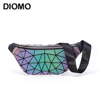 Diomo Style Fanny Packs Pack de taille pour dames Lumineux Night Holographic Night Bum Bum 211006