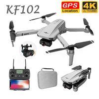 EST KF102 8K 6K 4K GPS Drone с камерой 3-оси Гимбаль бесщеточный квадроцикл 5G WiFi EIS FPV RC вертолет Dron 25Mins Flight Brones