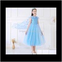 Платья детская одежда ребенка, дети родильный падение доставки 2021 лед и снег 2 чудес-принцесса айша девушки юбка сетки платье платье