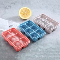 Food Grade 6 Lattice Ice Cube Tray Tools Silicone Candy Cake Mold Baking Cakes Cream Moulds With Lids Kitchen Accessories BH4518 TQQ