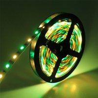 스트립 RGB LED 스트립 5M 60LEDS / M RGBW RGBWW 테이프 12V RGB + 화이트 RGB + 따뜻한 화이트 리본 장식 조명 #
