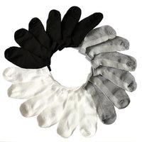 10Pair chaussettes Été Chaussettes de bateau masculin pour hommes Califetine Invisible Mince Mince Chaussette Humain Blanc Blanc Caltéries Homme Socken