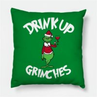 Drink Up Grinch Merry Christmas gift Pillowcase Xmas Decor for Home Decor for Christmas Ornaments Xmas Noel Santa Claus 2022 FY4979