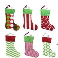 تصاميم عيد الميلاد تخزين المطرزة شخصية جورب هدية حقيبة عيد الميلاد شجرة الحلوى زخرفة العائلة عطلة الجورب AHB6224