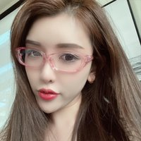Anti-blue Light Personality Equipped Can Eyes With Mirror Black Glasses 0401 Frame Style Net Celebrity Male Fashion Flat Be Femal Evtur