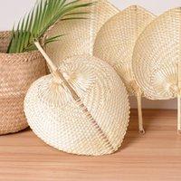 Hand gewebt Stroh Bambus Handlüfter Baby Umweltschutz Moskitoabweisende Fan für Sommer Hochzeit Favor Party Geschenk GWC7673