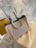 Большой пропускной способность 2021 люкс модные дизайнеры сумка женская сумка на плечо высокое качество летние пляжные сплетенные сумки сумки сплошной цвет