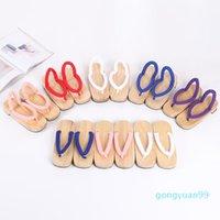 Anime Demon Slayer Cosplay Costumes Kamado Nezuko Geta Slippers Japanese Wooden Clogs for Women Kimono Flip-flops Shoes J1205