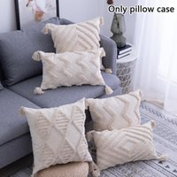 Pillow Case Boho Tassel 1 Pcs Square Soft Pillowcase Throw Cushion Cover For Bed Sofa Couch Fine Workmanship Home Decor