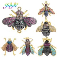 Juya DIY Handicraft Gold Bee Butterfly Insect Charms Accessories Supplies For Fashion Charms Bracelet Necklace Earrings Making A0603