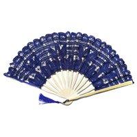 Annat Heminredning Dancing Lace Tyg Dekorativ Kinesisk stil Blomma Handgjord Handhållen Bröllop Prom Craft Pokage Folding Fan Party Gift