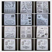Cadeau Cadeau Stickers muraux bricolage Peinture Scrapbook Coloriage Embossé Po Décoration Papier Card Modèle Creux