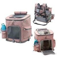 Carrinhas de gato, casas de caixas de estimação Pet Carrier Mochila Folachados ao ar livre dobrável Filhotes de viagem de grande capacidade de cão respirável