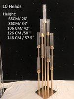Mumluklar IMUWEN 10 ADET Metal Tutucu Şamdan Çiçek Vazo Dedim Üye Merkezi Centerpiece Candelabra Ayağı Standı Yol Kurşun Seaway NHF10842