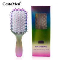 CestoMen Air Cushion Comb Rainbow Detangling Hair Brush Women Hairdressing Tools Beauty Salon Quality Sclap Massage Brush1