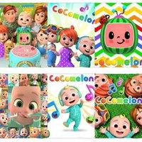 70 * 100 cm Cocomelon JJ Cobertores dos desenhos animados Flannel Cobertor Coco Melão Tapete Kids Sofa Nap Quilt Soft Bathing Toalhas de banho G4OG2BZ