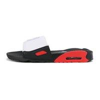2021 최고 품질 남성 여성 90 슬리퍼 샌들 신발 슬라이드 여름 패션 넓은 플랫 플립 플롭 박스 사이즈 유로 36-45