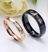 Cluster Rings Crown Gifts For Womans Accessories Mood Womens Stainless Steel Her King His Queen Lovers Ring Wedding Rose Gold