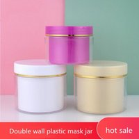 Storage Bottles & Jars Double Wall Plastic Cosmetics Packaging Bottle Face Mask Mixing Tool Skin Care Tools Facial Container BoxBottle