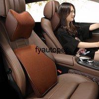 Automobiles Seat Headrest Car Cushion Pillow Memory Foam Car Pillows Lumbar Support Cushion Cover Pillow Sofa Cushion Cover