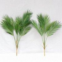 Decorative Flowers & Wreaths Artificial Palm Tree 60cm 68cm Home Wedding Outdoor Decor Large Tropical Plants Fake Monstera Plastic Leaves