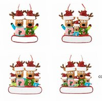 Kerst Ornament Opknoping Rendier Familie Decor voor Kerstmis Thuis Kantoor Kamer Decoratie Ambachten met String Geassorteerde Hangers DHF11357
