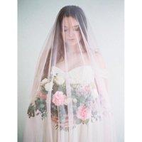 Bridal Veils Pink Cathedral Wedding Veil Long Accessories Veu De Noiva