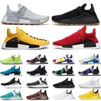 NMD Human Race الرجال النساء احذية الجري فاريل ويليامز هو عداء أبيض أسود أصفر أحمر رمادي رجالي المدربين أحذية رياضية كبيرة الحجم