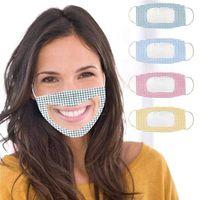 Fashion Camouflage sord-mute trasparente bocca-finestra maschera antipolvere lap-lettura cover per lampione lavabile anello dell'orecchio regolabile