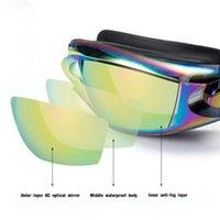 Swimming Goggles Women Men Swim Goggles Waterproof Suit Hd Uv Adjustable Prescription Glasses For Pools With Earplugs sqcPVR home2006