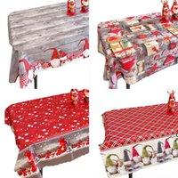 Tavola di Natale Panno Dinning Sala Decorazione Xmas Santa Pattern Tablecloth Rettangolo Tavoli da pranzo Coperchi Decorativi Ristorante FWD8839