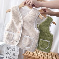 Winter Baby Lambs Plush Vest Warm Waistcoat For Outside Sweater Toddler Kids Clothes