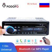 Podofo-Stereo-Empfänger 1Din In-Dash Car Radios 12V Bluetooth Autoradio MP3-Player Radio-Kassetten-Recorder 1 DIN-Fernbedienung