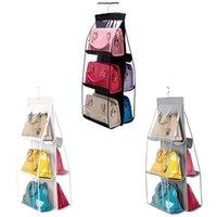 Storage Boxes & Bins PVC Fiber Handbag Hanging Organizer Bag Breathable And Strong Stitching To Store Purses Shoulder Crossbody