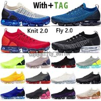 2021 En Kaliteli Örgü 2.0 Koşu Ayakkabıları Sinek 1.0 Üçlü Beyaz CNY Orca Erkek Eğitmenler Siyah Koyu Gri Giysi Mavi MOC Yelken Kadın Yastık Nefes Sneakers Boyutu 36-45