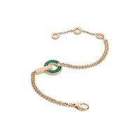 Braccialetti di lusso del diamante singolo del diamante della moda di lusso del braccialetto di rame del disco di fascino della signora con il contenitore di regalo di imballaggio squisito