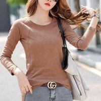 Women's T-Shirt Shintimes cotton t-shirt basic female casual -spring fall long sleeve asymmetry woman clothes topless CN28