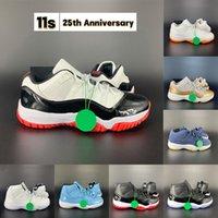 جديد 11 11 ثانية الذكرى 25th أحذية كرة السلة أحذية رجالية أحذية نسائية مع سلسلة المفاتيح العلامة كونكورد 45 23 جاما الأزرق bred 2019 المدربين