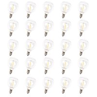 Pack of 25 G40 LED Replacement Bulb for String Lights E12 Screw Base Warm White 2700K Retro Style Clear Glass Bulbs Dimmable