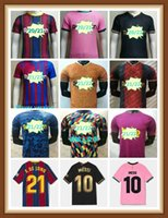 Jogador Versão Jersey Barcelona # 10 Messi Maillot de Pé 8 A. Iniesta Homens 17 Griezmann Kits Kits 21 F. Dejong 31 Ansu Fati Fati Camisa