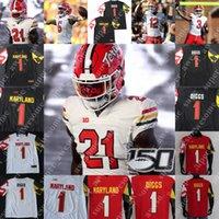 Maryland Terrapins Football Jersey Taulia TAGOVAILOA FLEET-DAVIS JAAIAH JACOBS DONTAY DEMUS JR RAKIM JARRETT TARHEEB SAM OKUAYINONU Stefon Diggs DJ Moore
