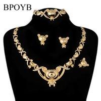 Earrings & Necklace BPOYB Big Teddy Bear Xoxo Jewelries Gold Color Wedding Fashion Papua Guinea Hawaiian Kid Lady Jewelry Set