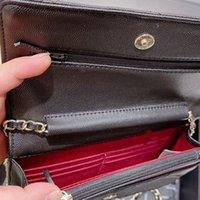 2021古典的なミニバッグサイズの財布の財布のデザイナーの財布の財布の財布の財布の財布贅沢な男性の肩のクロスボディバッグカラー女性ゴールドスライバーチェーン卸売