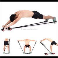 Rollers Abdominal Muscle Auxiliary Pull Rope Gym Ab Roller Resistance Bands Fitness Equipment Without Wheel Yya11 100Pcs Nijdr Budwg