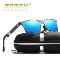 AORON Mens Polarized Sunglasses Aluminum Magnesium Driving Rectangle Sun Glasses Multifunction Reduce Glare Stylish UV-Resistant