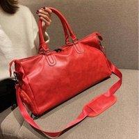 Роскошные DesignerFashion Black Water Plipple 45см спортивный дизайн сумка красный багажник M53419 мужчина и женщины Duffel сумки с тегом блокировки