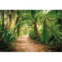 Decoração do partido cenário natural pano de fundo tropical selva palmeira paisagem pogaleza fundo decoração nascido casamento pomo