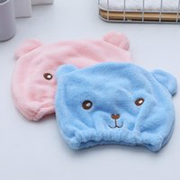Towel 1 PCS Hygroscopicity And Breathability Bear Microfiber Hair Turban Quickly Dry Hat Wrapped Cap Toallas Towels