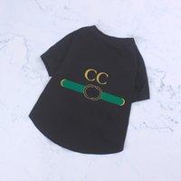 الصيف جرو تي شيرت الملابس poodle تيدي chenery pet الكلب الملابس إلكتروني المطبوعة الفمون المصممين الحيوانات الأليفة الملابس جميلة الحيوانات الأليفة تي شيرت 7 ألوان