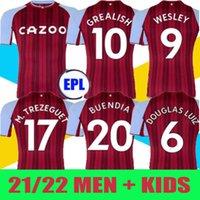21 22 Aston Soccer Jerseys Villa Buendía Traore Barkley 2021 2022 Watkins Wesley El Ghazi M.Trezeguet McGinn Football Shirt Hommes et enfants